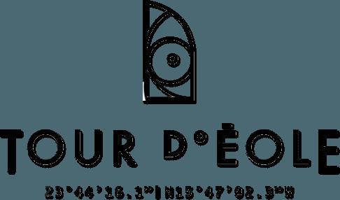 La Tour d'Eole logo noir et blanc partenaires