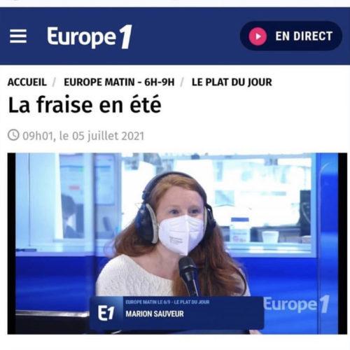 EUROPE 1 ROSE DE FRAISE